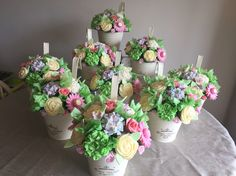 Vanilla cupcake bouquets from ButterCups cupcake co