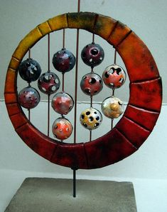 Ring with balls - knutselen - Ring with balls – knutselen – Raku Pottery, Pottery Sculpture, Pottery Bowls, Sculptures Céramiques, Sculpture Art, Sculpture Lessons, Ceramics Projects, Gourd Art, Pottery Studio