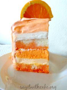 Orange Creamsicle Ice Cream Layer Cake