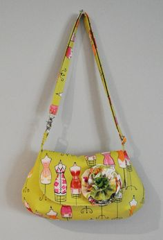 Handbag made with Dress Up fabric