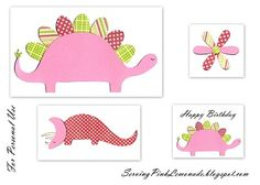 Pink Dino Party - The Invites