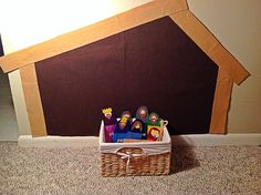 Felt wall nativity for kids to play with. **This was fun and a huge hit!