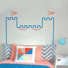 """This fun DIY idea from Scotch Brand is worth a try: """"Castle Headboard For Kids"""" #ScotchStyle"""