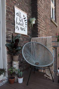 Art for the balcony - a DIY outdoor poster - Diy Balcony Decoration Balcony Furniture, Garden Furniture, Outdoor Walls, Outdoor Living, Outdoor Decor, Outdoor Chandelier, Balcony Design, Outdoor Projects, Patio