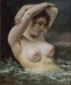 La mujer en las olas, Gustave Courbet, 1868, Metropolitan Museum of Art, New York