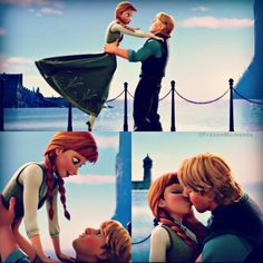 An overview of their kiss Now we make a little break here to show the past love of Anna : Hans how it begann! - HANS and Anna met each other at tha same place! Disney Couples, Disney Love, Disney Magic, Disney Frozen, Disney Stuff, Disney And Dreamworks, Disney Pixar, Disney Characters, Frozen Anna And Kristoff