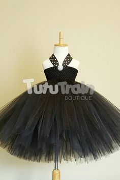 Breakfast at Tiffany's Tutu Dress Glamorous Black Tutu Tutu Dresses, Flower Girl Dresses, Black Crochet Top, Black Tutu, Shades Of Black, Audrey Hepburn, Playing Dress Up, Pageant, Bodice