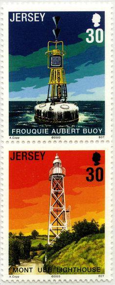 Faros de Jersey (II) Boya Frouquie Aubert y faro Monte UBE: Jersey. 2003