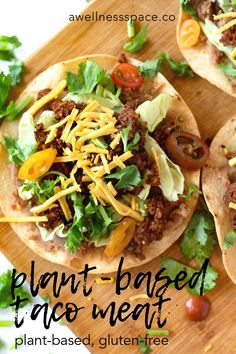 This delicious plantbased meat is mainly made from pecans and hemp seeds naturally packed with protein manganese healthy fats omegas iron magnesium and so much more Whats. Plant Based Recipes, Veggie Recipes, Mexican Food Recipes, Whole Food Recipes, Ethnic Recipes, Vegetarian Appetizers, Vegetarian Dinners, Vegetarian Recipes, No Dairy Recipes