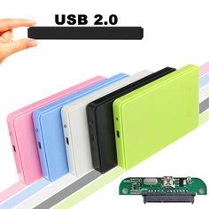High Quality Slim Portable 2.5 HDD Enclosure USB 2.0 External Hard Disk Case SATA Hard Disk Drives HDD Case Plug And Play