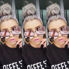 2017 New Arrival Big Round Women Brand Designer Vintage Sunglasses Lady Fashion Oversize Clear Pink Sun Glasses Summer Clear Sunglasses, Circle Sunglasses, Flat Top Sunglasses, Vintage Sunglasses, Sunglasses 2017, Pastel Fashion, Women Brands, Lady, Vintage Designs