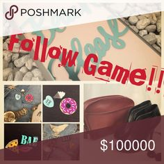 Like, Follow, and Share to Grow your Network! Want more sales? You need more followers! Want more followers? Play the game!  1) Follow me, Share, and Like this listing. 2) Check back and follow anyone who liked it as well. 3) Tag friends and Share Share Share!! You'll have more followers in no time!! Accessories