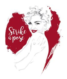 alejandromogollo: Мадонна поражает позой в Vogue видео @madonna #madonna #vogue #strikeapose #icon #diva #illustration #digitalart �лехандро Mogollo Там нет ничего к нему