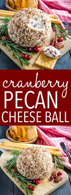 This Cranberry Pecan Cheese Ball is the perfect easy to make appetizer or snack . This Cranberry Pecan Cheese Ball is the perfect easy to make appetizer or snack for entertaining! Easy To Make Appetizers, Holiday Appetizers, Best Appetizers, Appetizer Recipes, Dinner Recipes, Drink Recipes, Thanksgiving Appetizers, Appetizer Ideas, Cheese Recipes