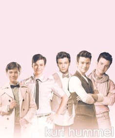The evolution of Kurt Hummel... Wow. He got a bf and turned all sexy.