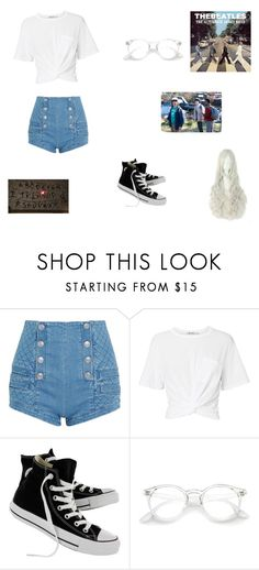 """""""Stranger things"""" by peypeyduck ❤ liked on Polyvore featuring Pierre Balmain, T By Alexander Wang and Converse"""