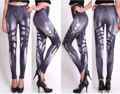 Slenderman-Urban-Legend-Creepy-Gray-Black-White-Gothic-Graphic-Print-Leggings Cute Plus Size Clothes, Geek Fashion, Fashion Trends, Urban Legends, Printed Leggings, Graphic Prints, Plus Size Women, Fashion Forward, Cute Outfits