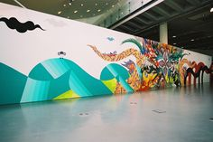 """turecepcja: """" Hitotzuki Hitotzuki, which translates as sun and moon, are a Japanese husband-and-wife duo of highly talented mural painters Kimi and Sasu. The extraordinary duo of self-taught artists, Hitotzuki have been painting murals for years..."""