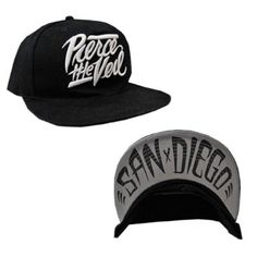 12f18448e40 Amazon.com  PIERCE THE VEIL - San Diego - Black Snapback Baseball Cap   Hat   Clothing