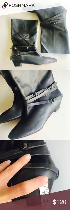 FRYE low heels dark grey women's boots FRYE low heels dark grey women's boots. Worn once! Near mint condition. Size 10. No box. True to size Frye Shoes Combat & Moto Boots