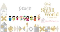Peace, Joy, Hope - Children of the World - Disney Its a Small World - SwaddleDesigns #BabyGift
