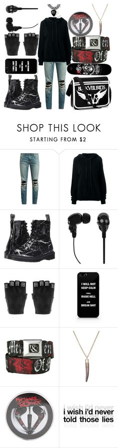 """""""Untitled #386"""" by briana-is-hungry ❤ liked on Polyvore featuring Yves Saint Laurent, Unravel, Dr. Martens, 2Me Style, Majesty Black, Hot Topic, MANGO, Mon Cheri and GET LOST"""
