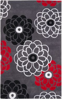 Safavieh Modern Art Mda620a Dark Grey / Multi Area Rug