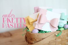 Easter Pretty Pastels with Bow   Damask Love Blog