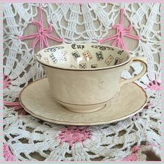 The Cup Of Knowledge Rare Vintage Fortune Telling by Dejavujunkie