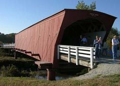 Hogback Covered Bridge - one of the Bridges of Madison County, Iowa