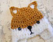 crochet bebe fox hat on etsy!