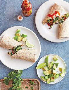 Fresh Garden Wrap / Photo by Jennifer Davick Best Wraps, Lunch Wraps, Chicken Wraps, Avocado Toast, Sandwiches, Roast, Fresh, Vegetables, Lunch Ideas