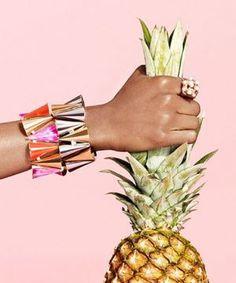 #Pineapple #Pink #Jewerly #Fruit #Fashion #Inspiration #BiographyInspiration #Style