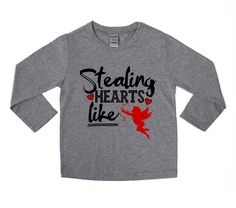 DISCOUNT code ANNABELLE15 to save on your entire purchase!   Stealing Hearts like Cupid - Cupids Arrow - Valentine's Day Tee - Funny Valentine Tee - VDAY - Unisex Kids Shirts - Stealing Hearts - by VazzieTees on Etsy https://www.etsy.com/listing/506239861/stealing-hearts-like-cupid-cupids-arrow