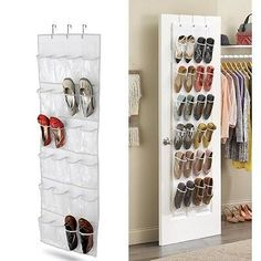 Charming 1x Over The Door Hanging Shoe Rack Storage Shelf Organiser Stand Hook  Holder WT | AYK World | Pinterest | Hanging Shoe Rack, Hanging Shoe  Organizer And ...