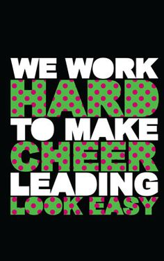Omni Cheer - Polka Dotted We Work Hard to Make Cheer Leading Look Easy