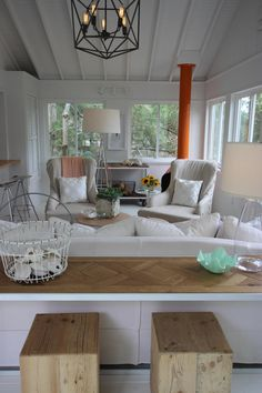 As Seen On Hgtv S Vacation House For Free Matt Blashaw Has Designed A Sitting Room The Homeowners That Provides An Excellent View Of Lake