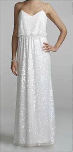 Simple & Sequined Dress (David's Bridal, $229)