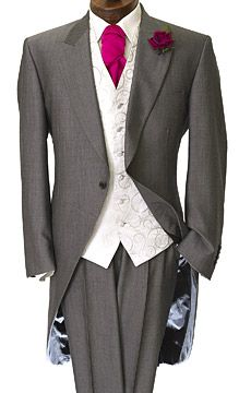 Rye Silver, a knock-out light-weight Mohair tails wedding suit with eye-catching collar detail and inner jacket shine.
