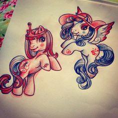 My lil Marceline and My Lil Princess Bubblebutt!! mashup funtimes by Rizza Boo (adventuretime & mylilpony) bonafidetattooist@gmail.com