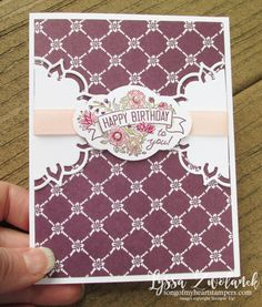 Label Me Pretty Punch Bunch Stampin Up Lyssa cardmaking rubber stamping tutorials