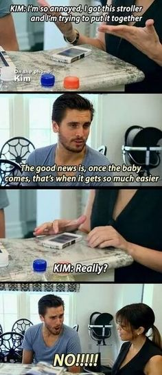 "When they offered Kim some parental advice. | 21 Times Kourtney And Scott Made ""Keeping Up With The Kardashians"""