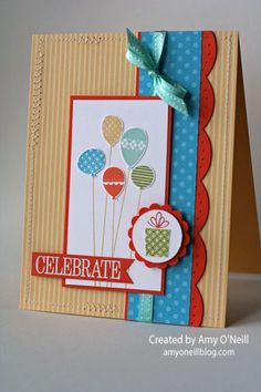 BIrthday - Patterned Party stamp set, Make A Wish stamp set, Large Scallop edgelits