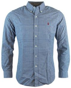 Polo Ralph Lauren Mens Long Sleeve Custom Fit Button Down Shirt
