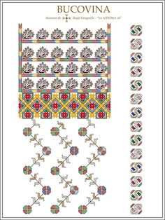 IA AIDOMA 16 - Bucovina, ROMANIA Folk Embroidery, Learn Embroidery, Embroidery Patterns, Machine Embroidery, Cross Stitch Borders, Cross Stitch Patterns, Antique Quilts, Embroidery Techniques, Beading Patterns