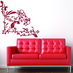 Beautiful Blossom Mural Wall Decal (24in x 23in )