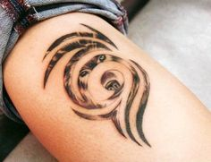 Thigh Wolf Tattoo for Women