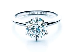 Tiffany Tiffany & Co. is celebrating its 175th anniversary.  Shown: Tiffany Setting Engagement Ring, a design classic. The diamond is held away from the band by six prongs, which allows more light through the stone.    Diamonds represent about a quarter of Tiffany & Co.'s 3.6 billion in annual sales.  -  http://www.cbsnews.com/2300-3445_162-10012059.html?tag=contentMain;contentBody#