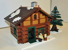 Winter Village Log Cabin