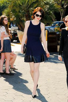 Michelle Dockery visits 'Extra' at Universal Studios Hollywood on February 24, 2014 in Universal City, California.